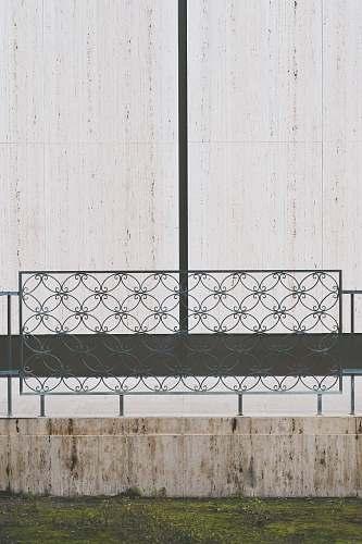 handrail gray steel frames banister