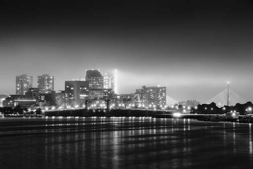 black-and-white grayscale photography of cityscape urban