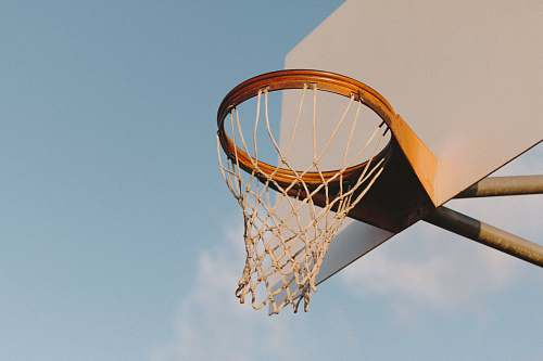 riverside low angle photography of basketball hoop united states