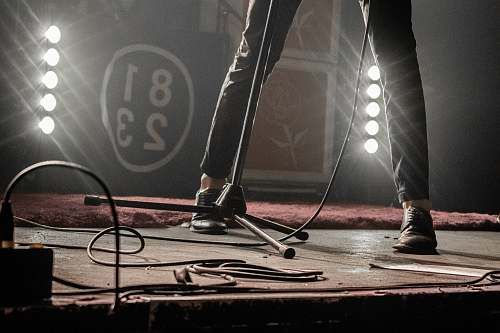 person person standing on stage footwear