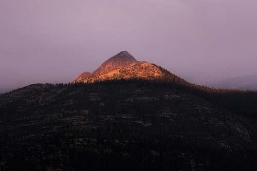 peak gray mountain alps nature