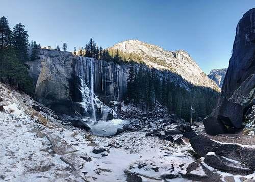 snow waterballs on mountain glacier