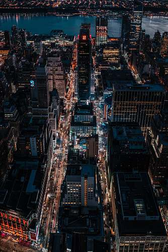 landscape aerial photo of city skylines outdoors