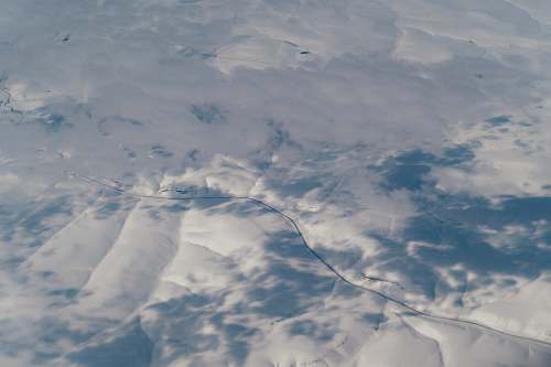 grey aerial photography of clouds ice