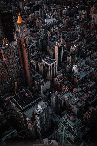 landscape aerial view of buildings outdoors