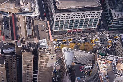 landscape birds eye photography of buildings aerial view