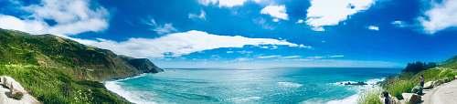 outdoors ocean view azure sky