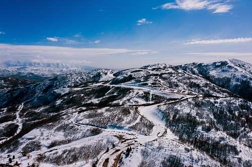 mountain white snow covered mountain mountain range