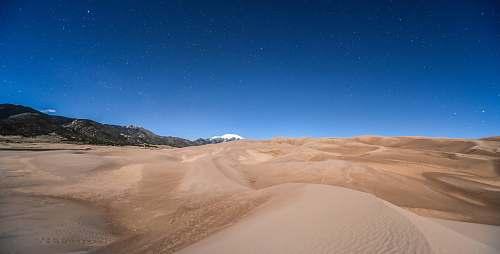 desert desert under blue sky dune