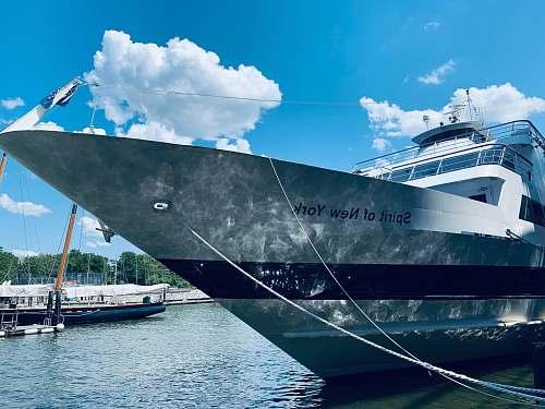 vehicle white Spirit of New York ship boat
