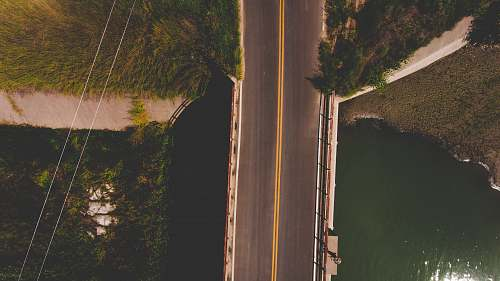 green aerial photography of bridge maxwell