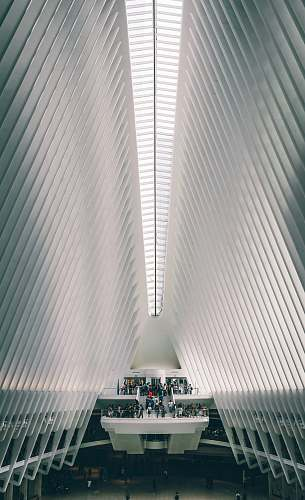 new york people in white concrete building the oculus
