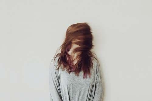 hair women's gray long-sleeved shirt female