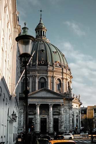 building architectural photography Frederik's Church dome