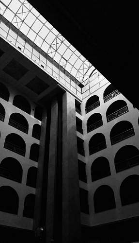building architectural photography of building black-and-white