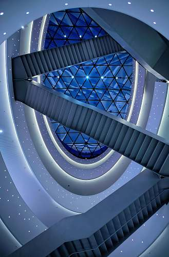 building architectural photography of buildings interior blue