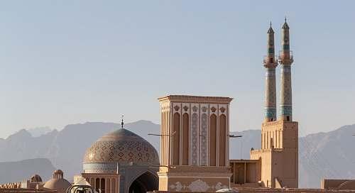 building beige mosque dome