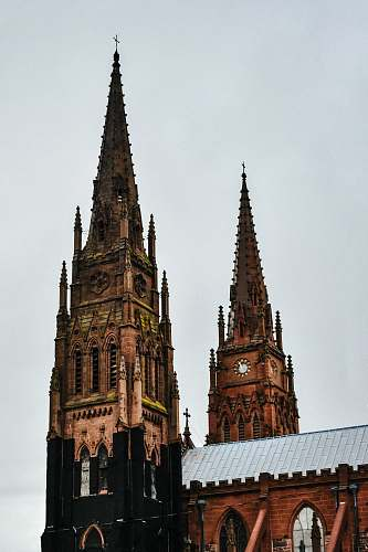 spire black cathedral tower