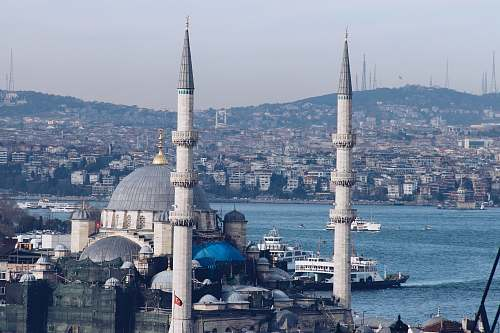 building blue mosque near body of water dome