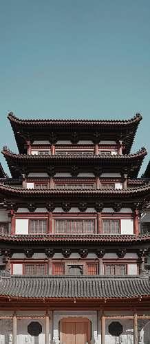 building brown 4-storey gazebo during daytime pagoda
