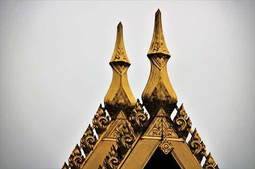 building brown building finial spire