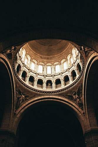 building brown dome building interior sacré coeur
