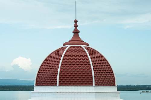 building brown house roof dome