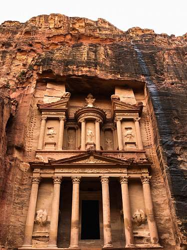 building brown ruins monastery