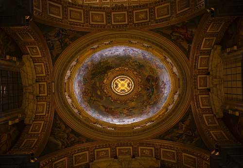 building church ceiling photo apse
