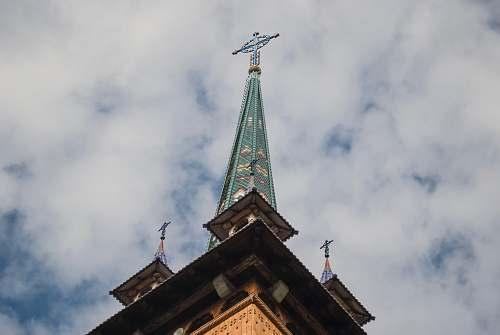 building cross tower spire