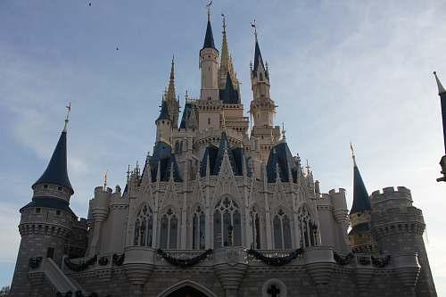 building Disneyland castle spire