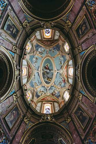 building dome building with paintings malta