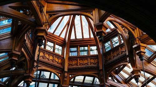 window dome ceiling with mirrors during daytime building