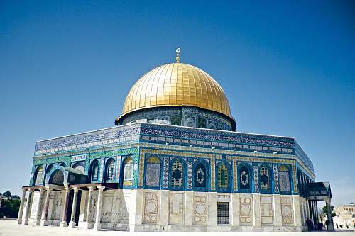 building Dome of the Rock, Israel dome