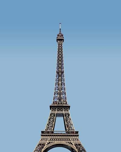 building Eiffel Tower under blue sky tower