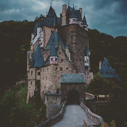 building Eltz Castle in Wierschem, Germany castle
