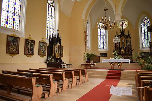 photo church empty church seats altar free for commercial use images