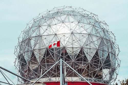 photo building flag of Canada on pole dome free for commercial use images