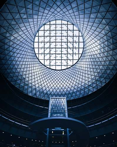 building glass dome ceiling