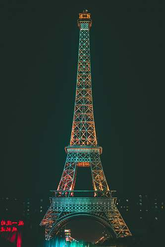 building gray and brown Eiffel Tower tower