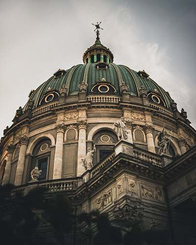 building gray and green dome building dome