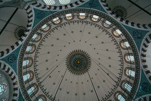 building gray and white ceiling dome