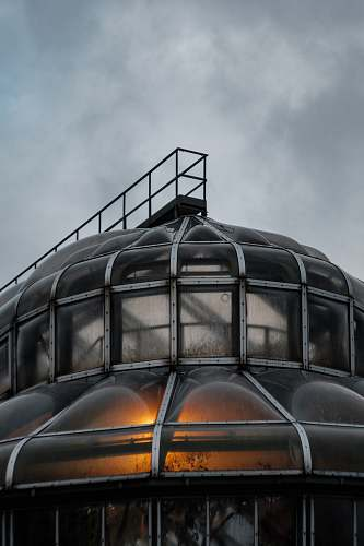 building gray steel house dome