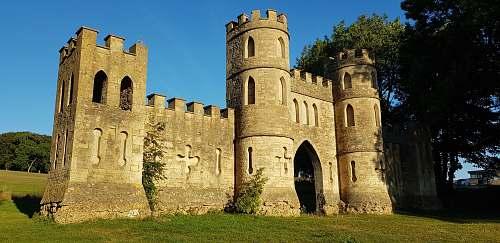building gray stone castle castle