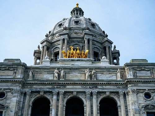 building gray temple dome