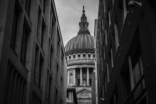 dome grayscale photo of dome building black-and-white