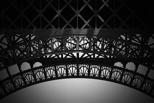 black-and-white grey building photography arched