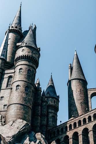 building grey castle spire