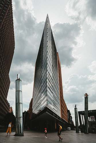 building grey high rise building spire