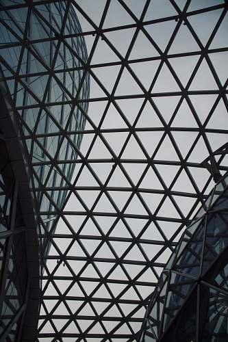 building grey metal frame window